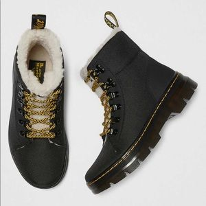 dr.martens combs fleece boots